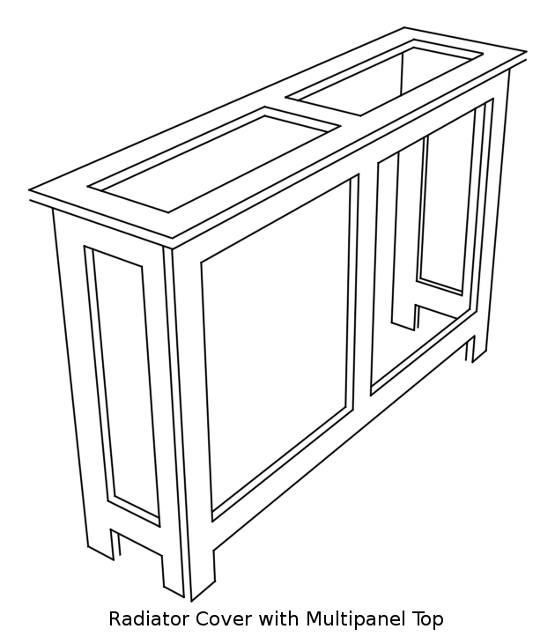 Multipanel Top Option For Radiator Cabinets